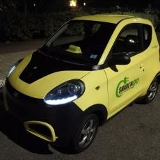 We rented an electric car in the Sharengo system