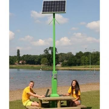 Charging station with solar panel